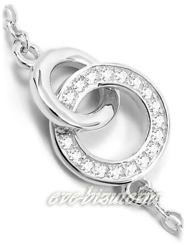 Łańcuszki srebrne z zawieszką